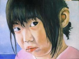 piccola cinesina di profilo