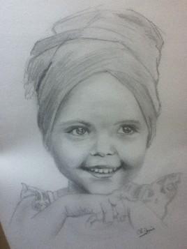 Petite fille au turban