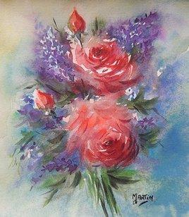 Peinture Bouquet....