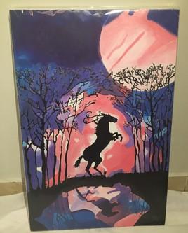 Horse in a magical night