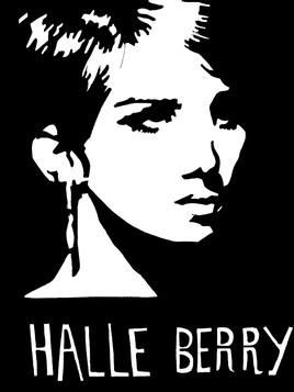 Portrait dessin en noir et blanc