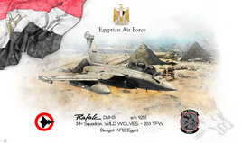 Lithographie RAFALE Egyptien