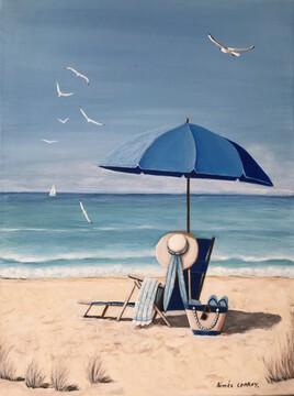 la plage bleue