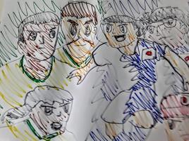 Japon vs Brésil -Captain Tsubasa