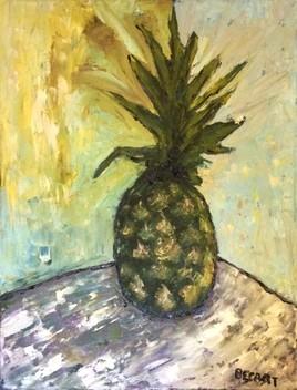 Ananas au couteau....