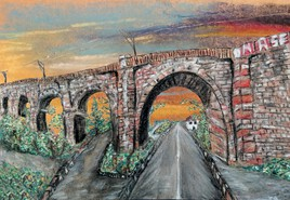 Pont sur soleil couchant