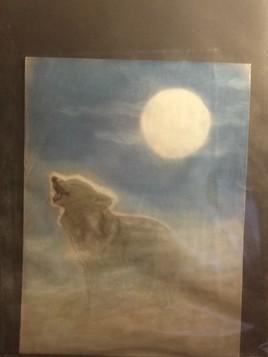 Loup au claire de lune