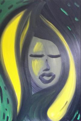 Peinture Portrait de Madona