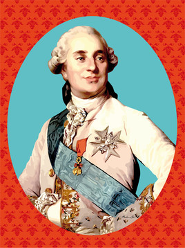 Portrait de Louis XVI pop art