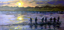 Pêche d'étang en Brenne au petit matin...