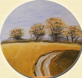 Arbres et paysage d'automne