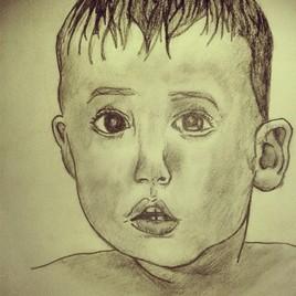 Dessin de visage d'enfant