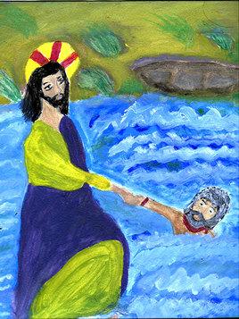 Le sauvetage de Pierre par Jesus