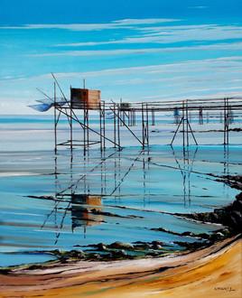 Pêcherie au carrelet sur la côte charentaise 3