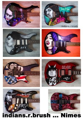 guitar airbrush custom design N2
