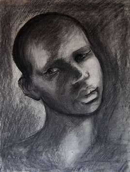 Portrait Fusain 40x30cm n°32