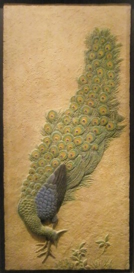 Pavo real. med: 48x99x3 cm.