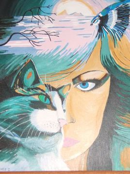 visage et chat