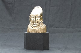 masque en bronze