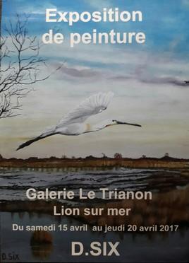 L' affiche de l' exposition qui aura lieu à Lion sur mer .....