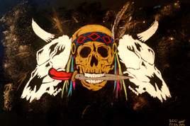 Native skull trio