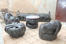 Salon en pneu