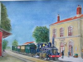 La gare d'Authon
