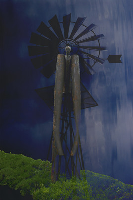 Statue ventée