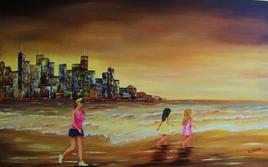 footing sur la plage