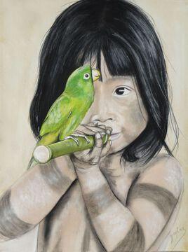 Jeune indien d'Amazonie