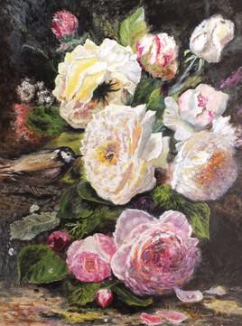 Les roses et l'oiseau