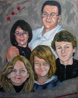 Patrice, Anne-Lise et leurs enfants