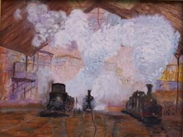 trains en gare St Lazare