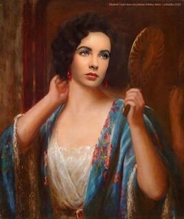 Liz Taylor dans une peinture d'Abbey d'Abbey Alston ..