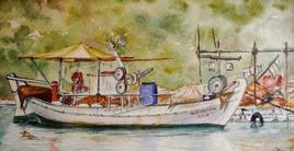 Barque de pêche grecque