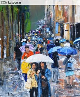 Sous les parapluies