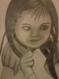 Petite fille malicieuse