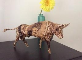 Sculpture taureau.