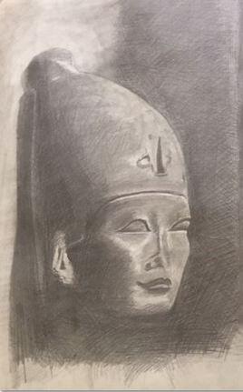 D103 Pharaon SESOSTRIS III Coiffé de la couronne blanche ( 1872 - 1854 av Jc )