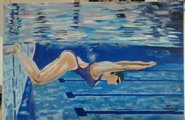 la nageuse - 115 cm x 80 cm