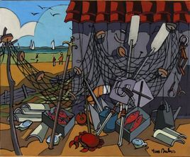 Peinture Le crabe par YVES DUBOS