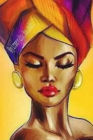 Peinture femme senegalaise