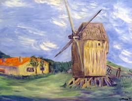 Le moulin de Ville sur Terre vers 1890