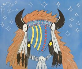 Sundance buffalo headdress leader
