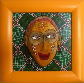 masque africain vivant
