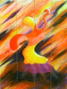 """Vide Atelier - Peinture sur bois - """"Danseuse de flamenco 1 - """""""