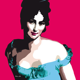 Portrait de Madame Recamier pop art