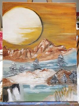 montagne lunaire