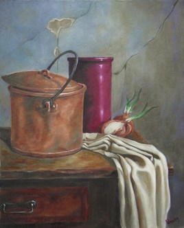 Nature morte au pichet rouge