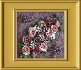 Roses en relief 3D